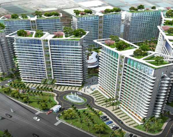 Layout of buildings and condo units for sale at Azure resort residences