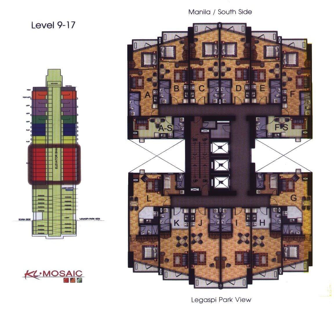 Kl mosaic condominium makati philippines for Condo blueprints