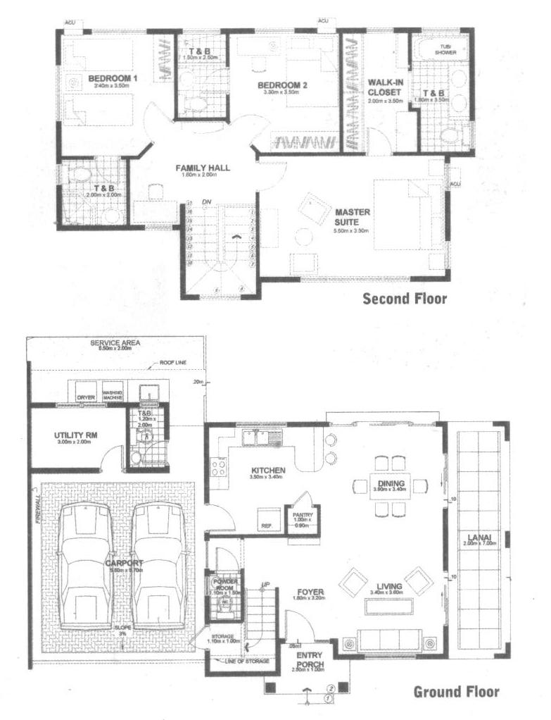 Simple two story house plan in philippines joy studio for Simple two story floor plans
