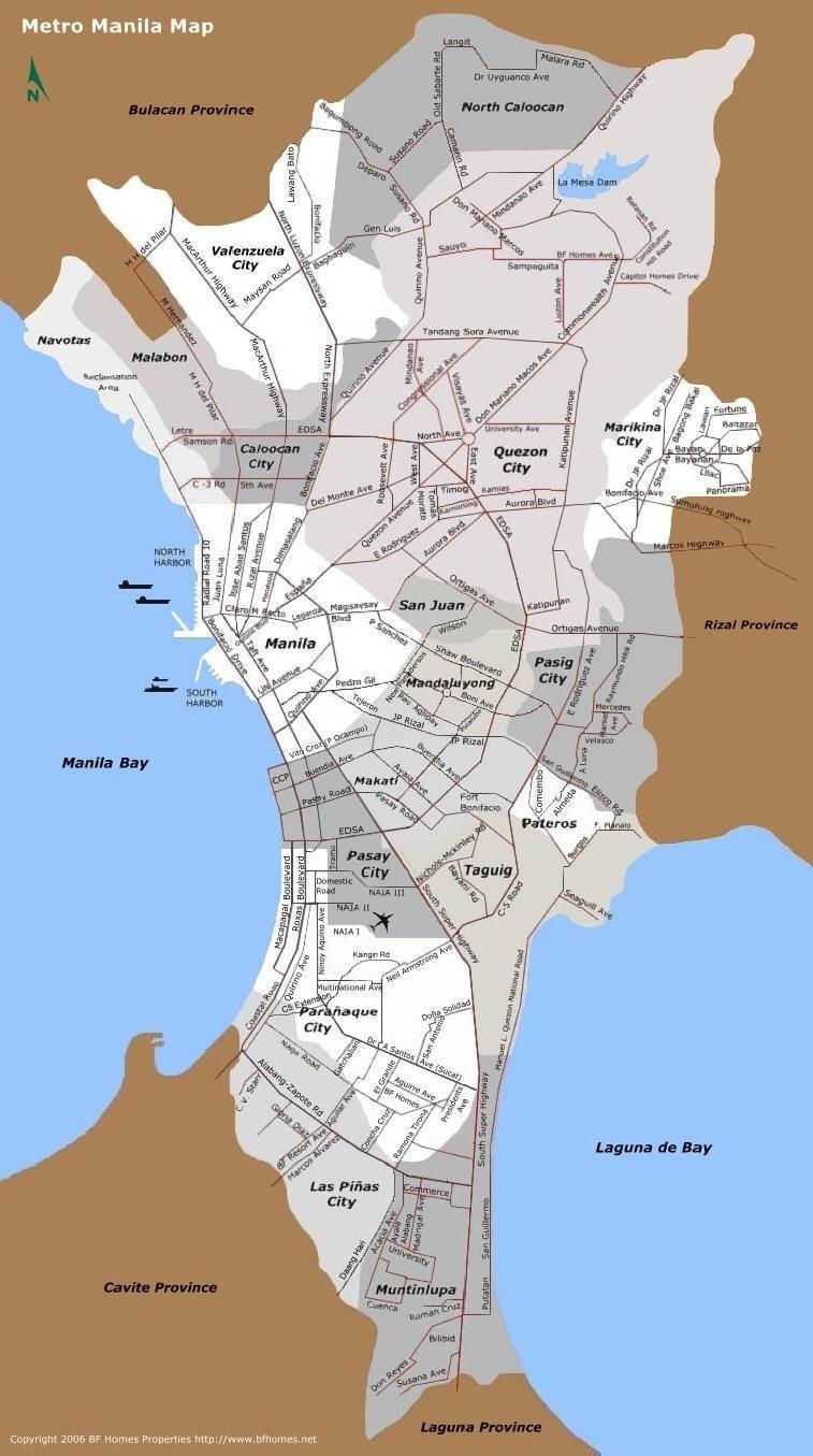 Street Map Manila Philippines