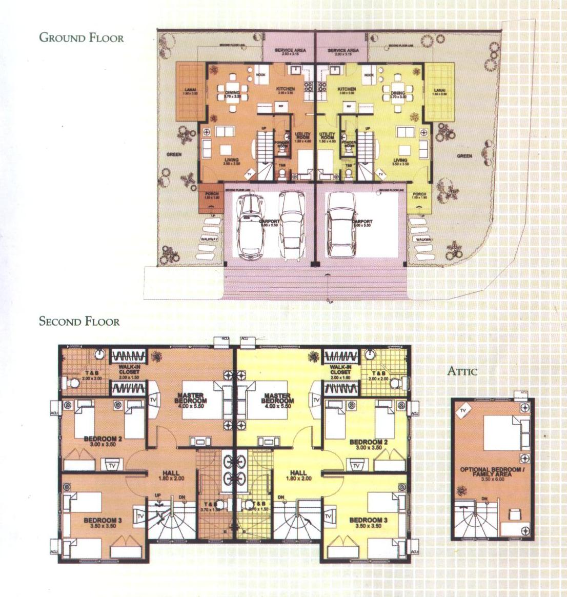 Slab duplex plans joy studio design gallery best design for Up down duplex floor plans