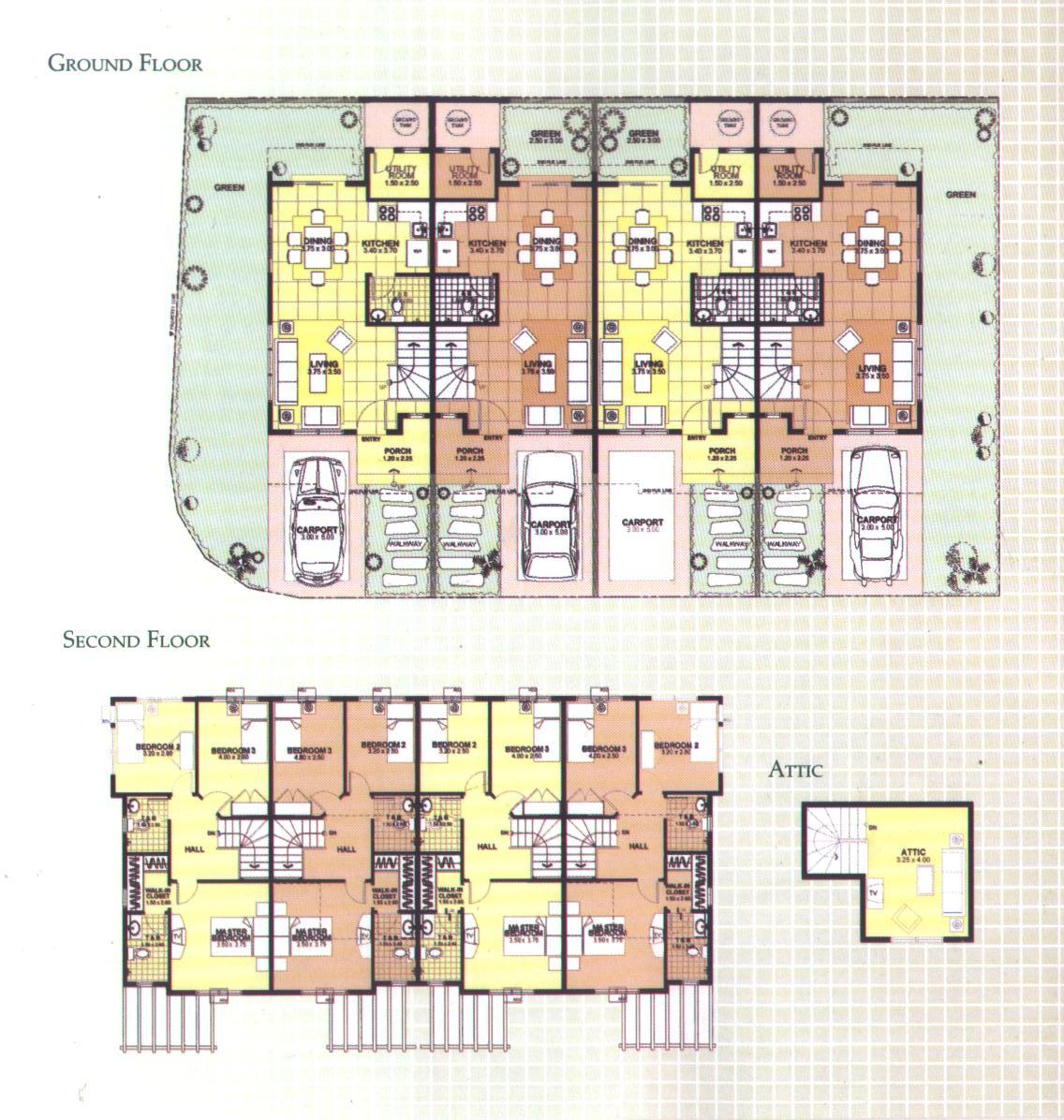 Townhomes Floor Plans Over 5000 House Plans
