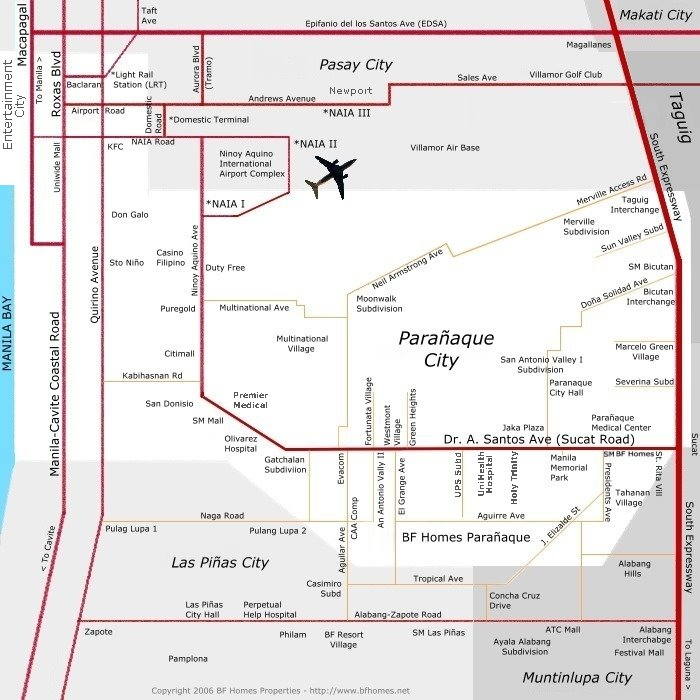 Paranaque Map  BF Homes Paranaque Map