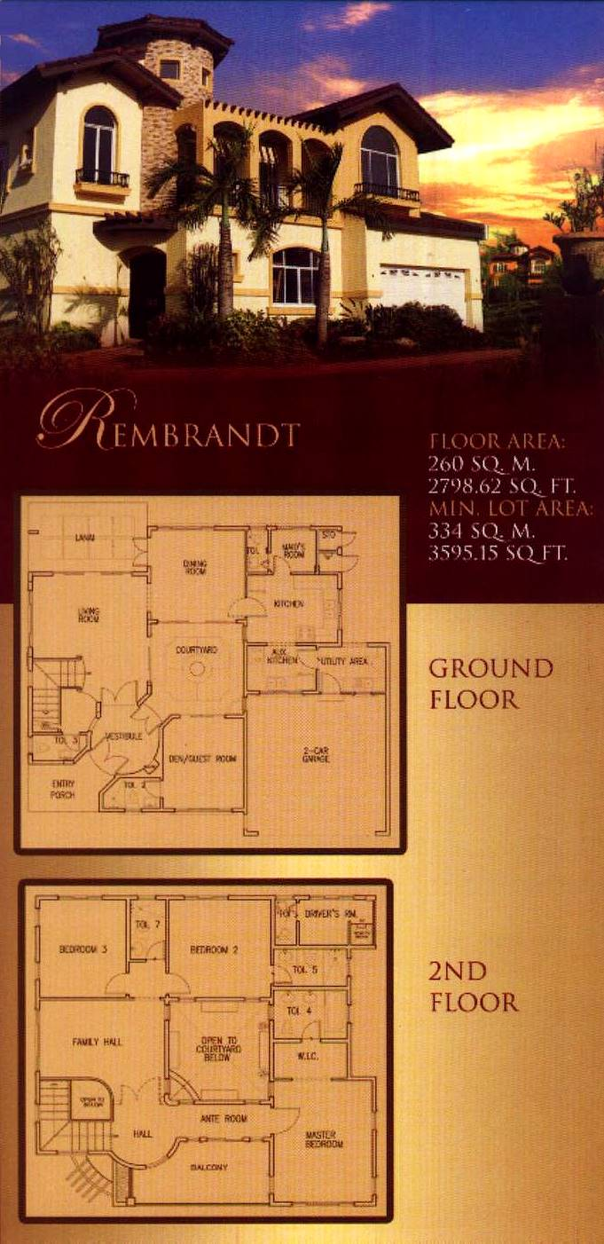 Courtyards of portofino alabang metro manila philippines for Rembrandt homes floor plans